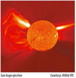 Sun huge ejection (Courtesy: NASA/JPL)