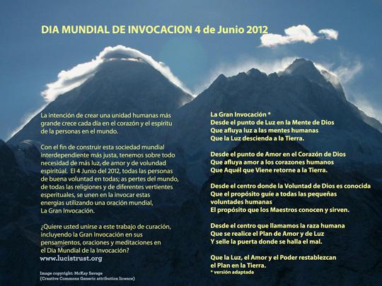 tarjeta electrónica para ayudar a divulgar el Día Mundial de Invocación